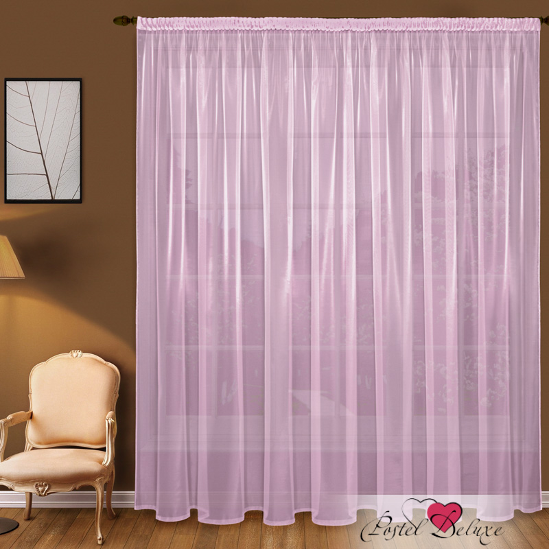 Шторы Elegante Классические шторы Дымка Цвет: Сиреневый шторы kauffort классические шторы barolo