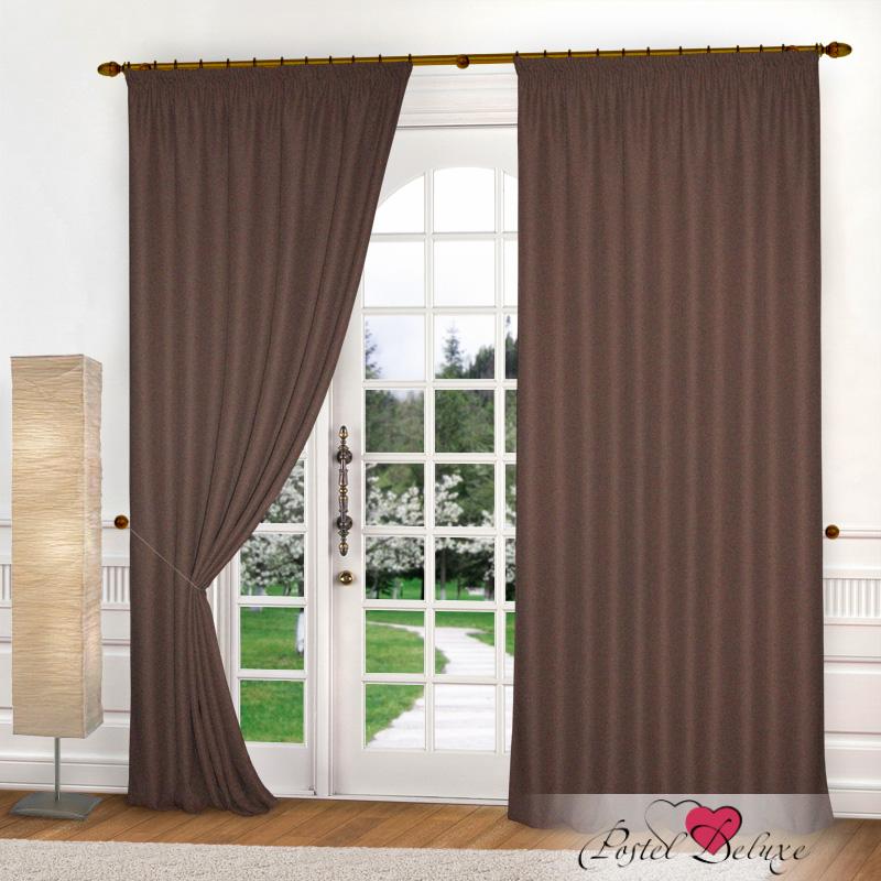 Шторы Elegante Классические шторы Эко-Стиль Цвет: Темно-Коричневый шторы primavera классические шторы maev цвет персиковый