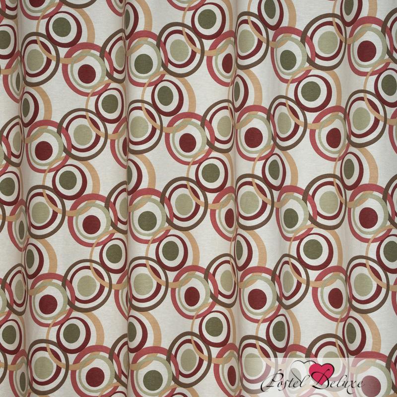Шторы Elegante Классические шторы Круги Цвет: Бежевый шторы primavera классические шторы maev цвет персиковый
