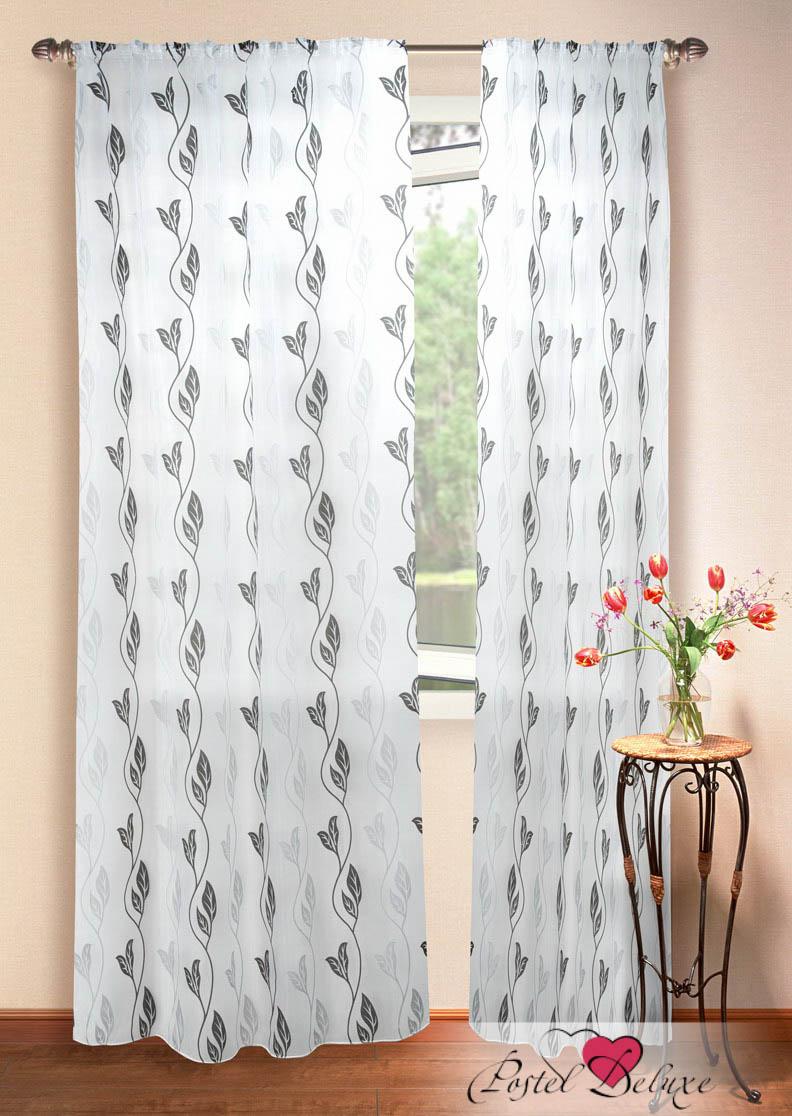 Шторы Elegante Классические шторы Листья Цвет: Черно-Белый шторы tac классические шторы winx цвет персиковый 200x265 см