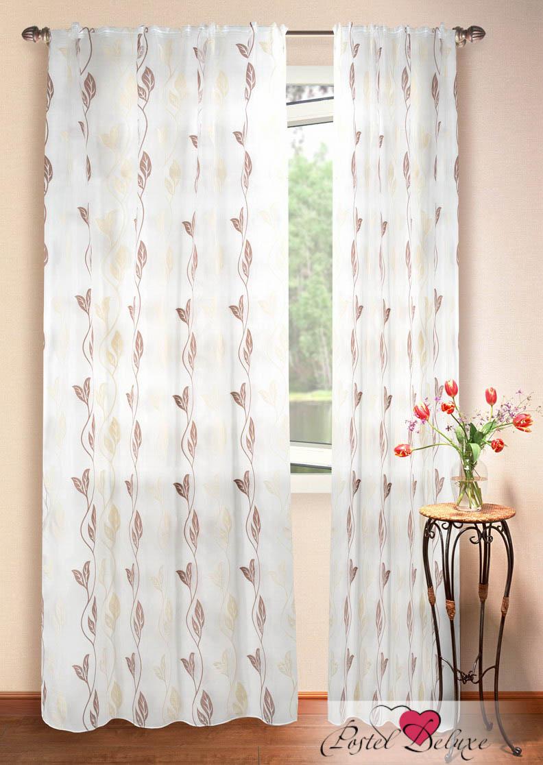 Шторы Elegante Классические шторы Листья Цвет: Коричнево-Белый шторы tac классические шторы winx цвет персиковый 200x265 см