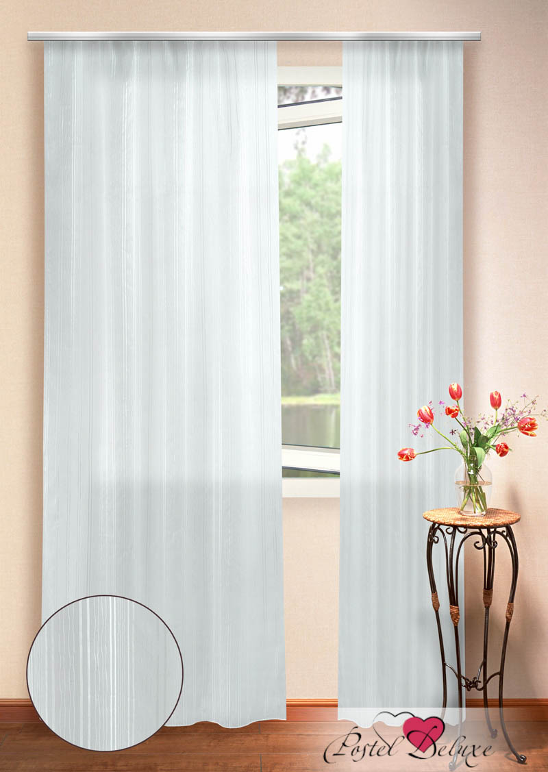 Шторы Elegante Классические шторы Тиффани Цвет: Белый шторы tac классические шторы winx цвет персиковый 200x265 см
