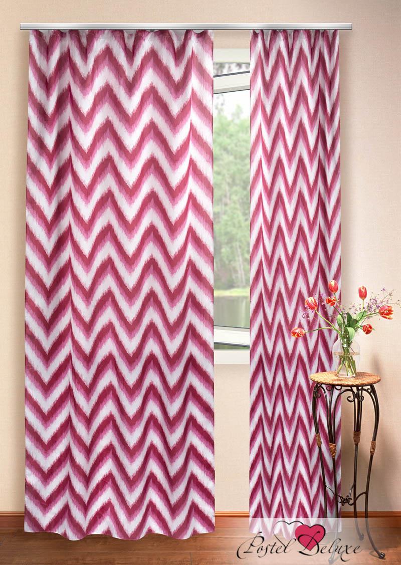 Шторы Elegante Классические шторы Зигзаги Цвет: Бордовый шторы tac классические шторы winx цвет персиковый 200x265 см