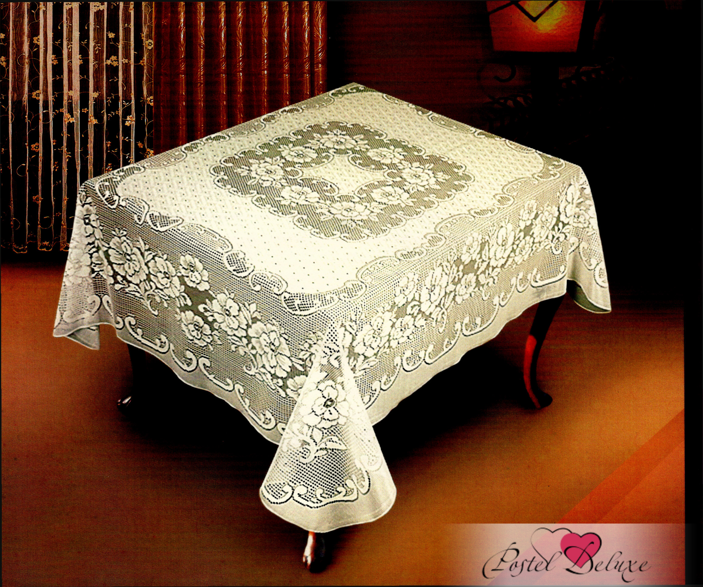 Скатерти и салфетки Elegante Скатерть Manuela Цвет: Белый (145х165 см) manuela