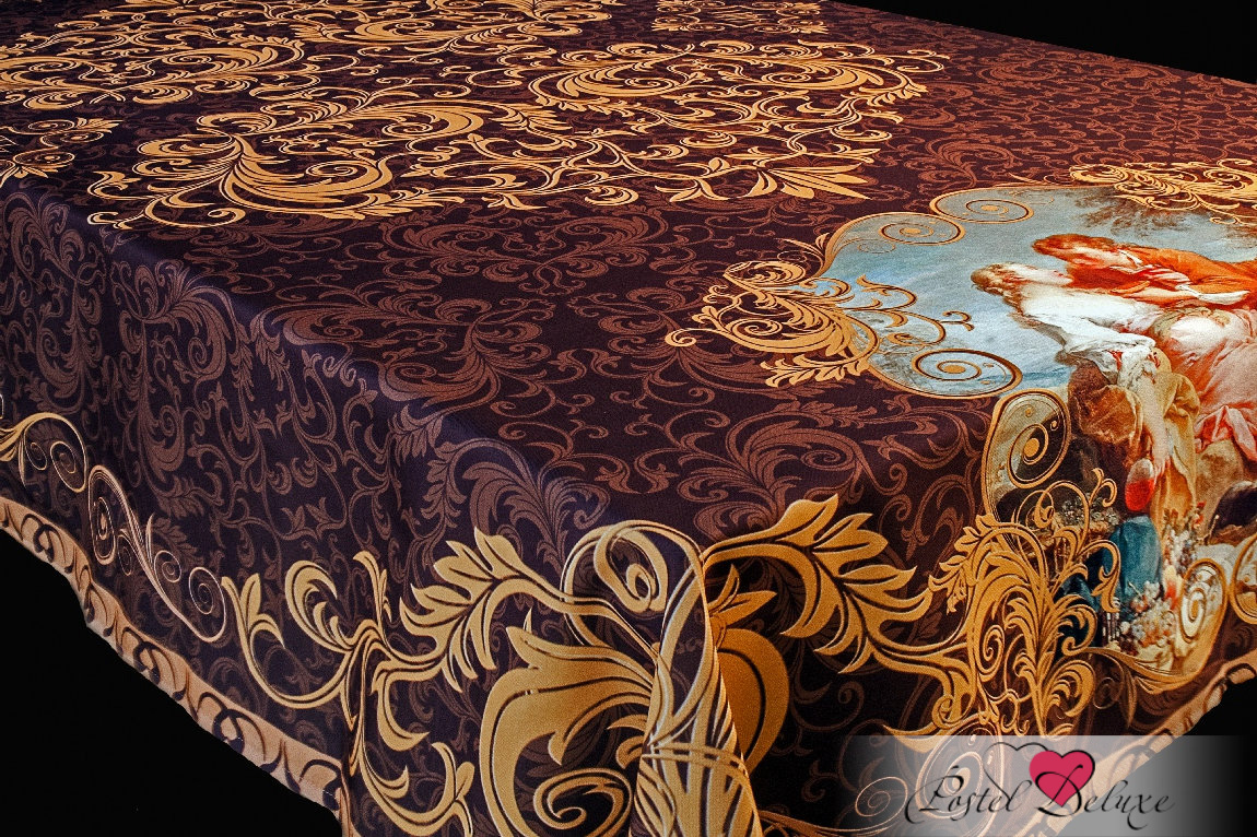 Скатерти и салфетки Elegante Скатерть Аморе Цвет: Коричневый (120х150 см) скатерти и салфетки elegante скатерть улыбка 120х150 см
