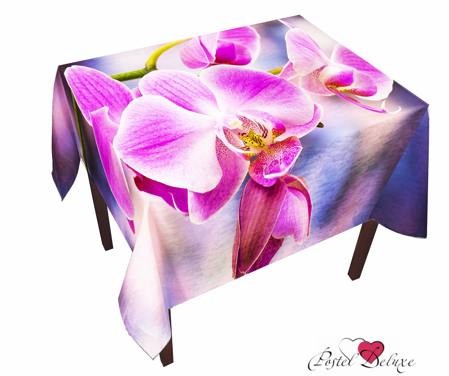Скатерти и салфетки Elegante Скатерть Орхидея (120х150 см) скатерти и салфетки elegante скатерть улыбка 120х150 см