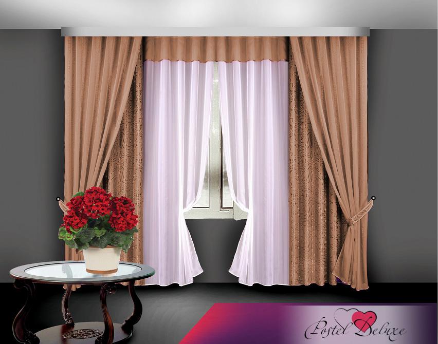 купить Шторы Elegante Классические шторы Caracas Цвет: Коричневый по цене 4640 рублей