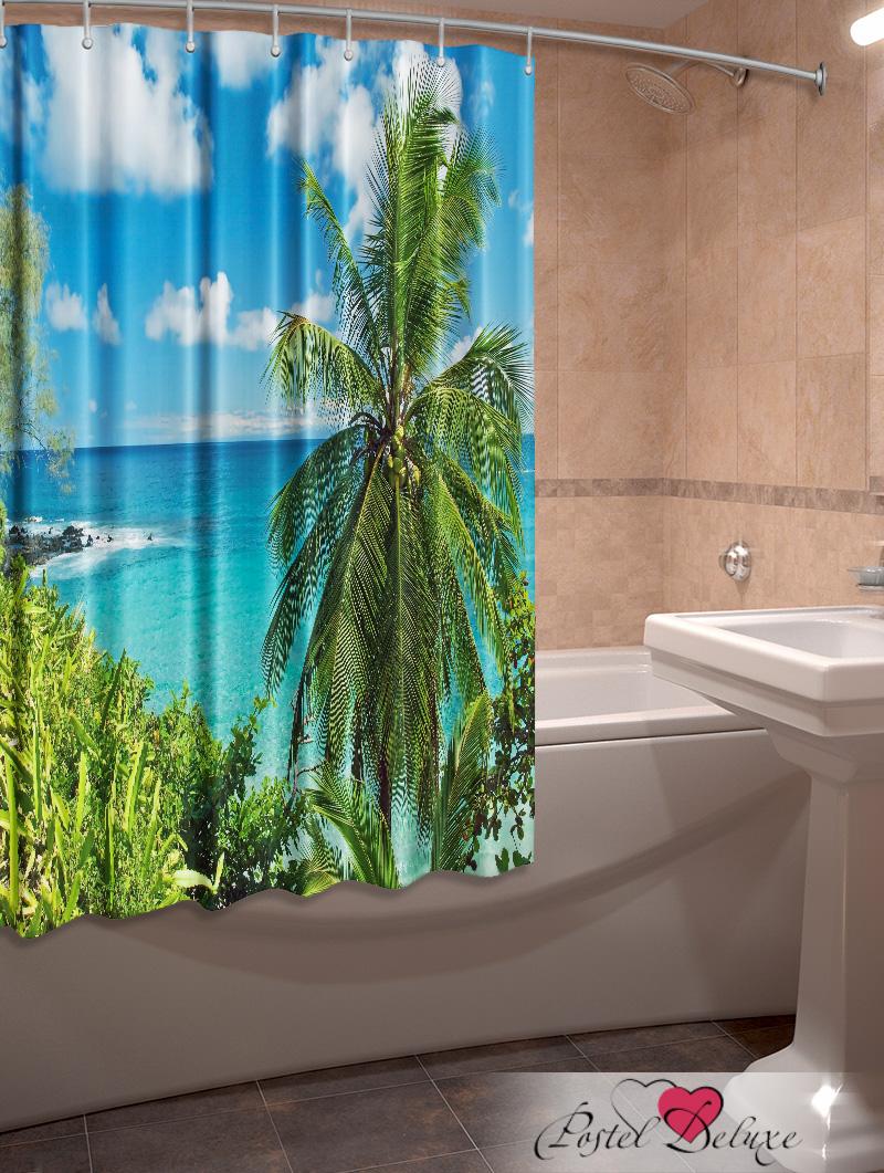 Шторы и карнизы для ванной Elegante Фотошторы для ванной Гавайский Рай егерь последний билет в рай котенок