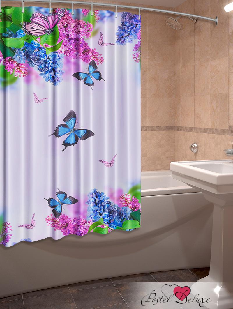 Шторы и карнизы для ванной Elegante Фотошторы для ванной Сирень