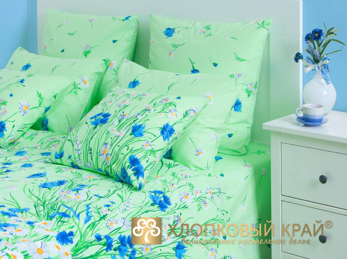 Постельное белье Хлопковый Край Постельное белье Есения Цвет: Зеленый (2спал.)