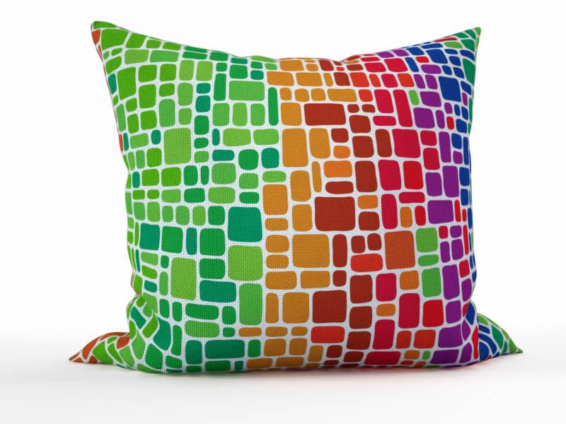 Декоративные подушки StickButik Декоративная подушка Цветные Кирпичики (45х45)