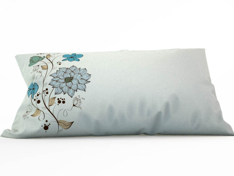где купить Декоративные подушки StickButik Декоративная подушка Голубые Цветы (25х45) по лучшей цене