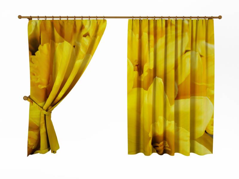 Шторы StickButik Фотошторы Желтые Цветы шторы stickbutik фотошторы желтые квадроциклы