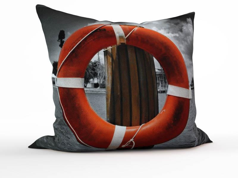 Декоративные подушки StickButik Декоративная подушка Красный Круг (45х45)