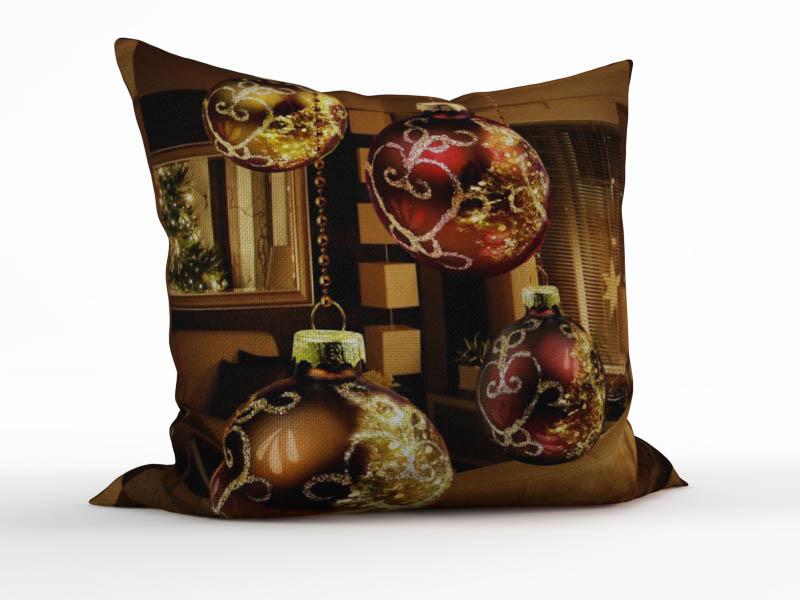 Декоративные подушки StickButik Декоративная подушка Ёлочные Шарики (45х45)