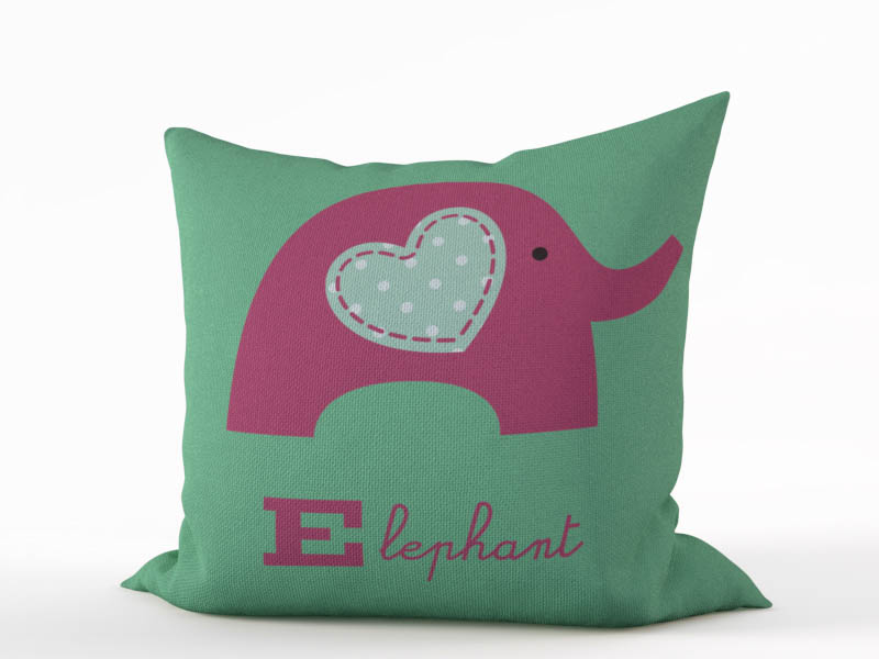 Декоративные подушки StickButik Декоративная подушка Пурпурный Слоник (45х45)
