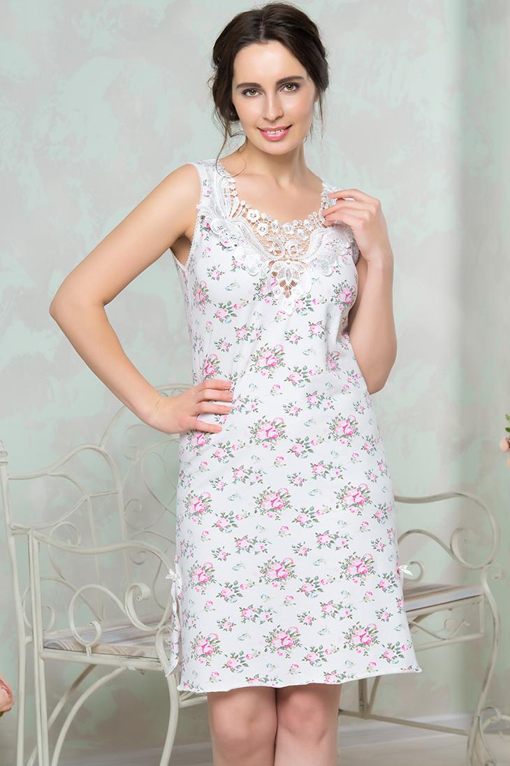 Ночные сорочки Mia Cara Ночная сорочка Rebekah Цвет: Молочный (xxL) ночные сорочки mia mia ночная сорочка cleopatra xxl