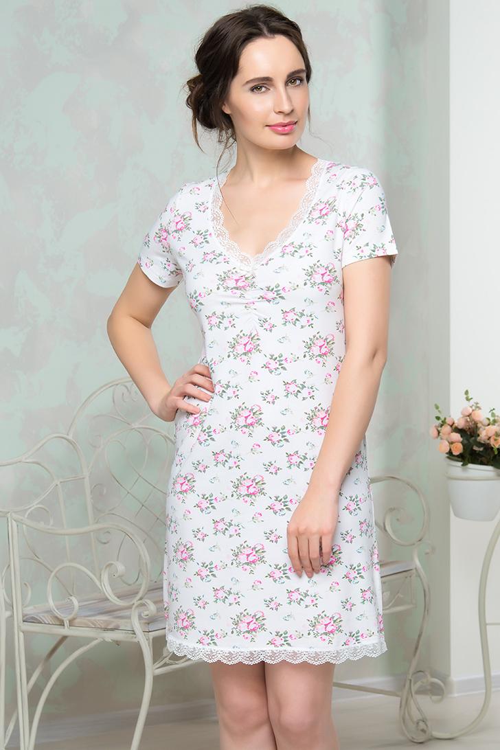 Ночные сорочки Mia Cara Ночная сорочка Luvinia Цвет: Молочный (xxxL) пижамы mia cara пижама paulina цвет сиреневый xxl