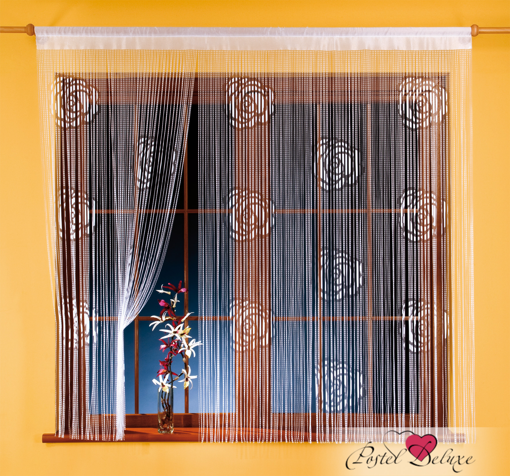 Шторы Wisan Нитяные шторы Roze Цвет: Белый комплект штор для кухни wisan celina на ленте цвет белый оранжевый высота 180 см