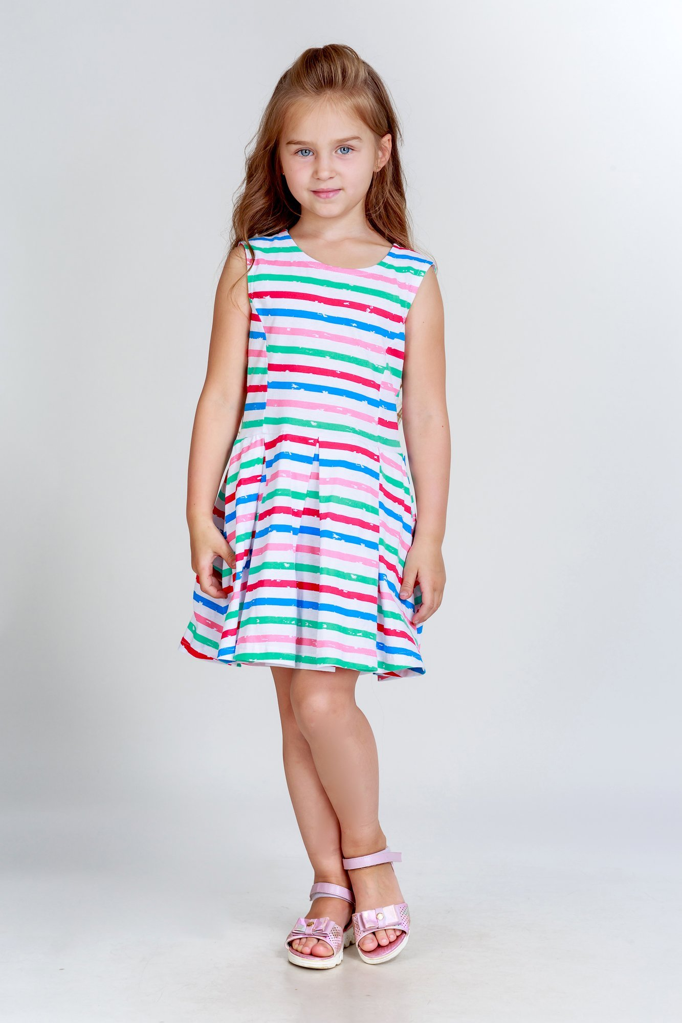 Детские туники, сарафаны Pastilla Платье Васильки (8 лет)