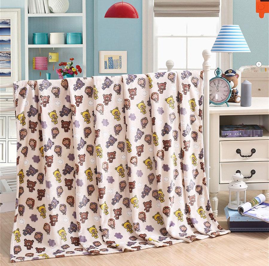 Детские покрывала, подушки, одеяла HONGDA TEXTILE Детский плед Мишки Для Малышки (130х170 см) printio плед флисовый 130х170 см
