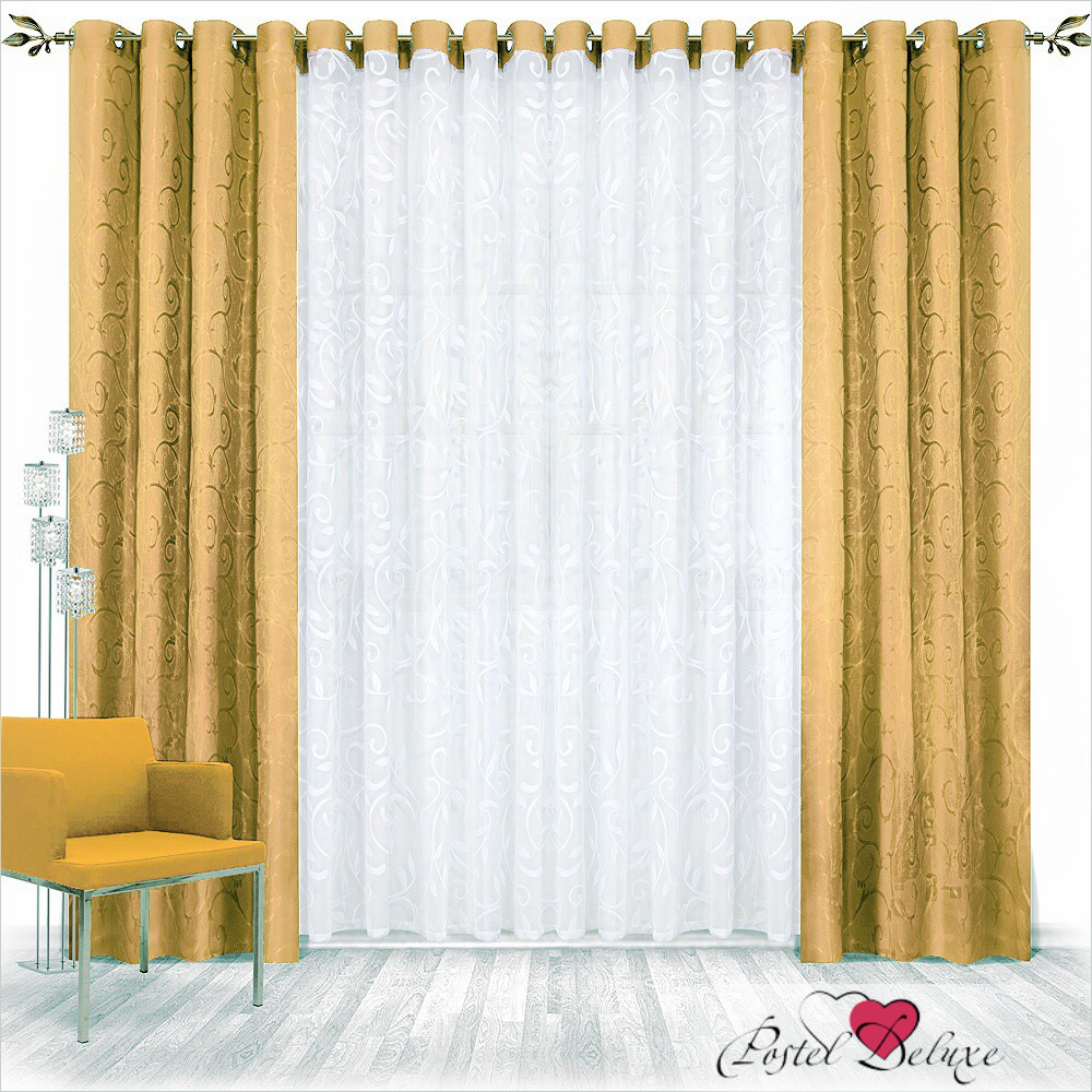 Шторы Nivasan Классические шторы Рига Цвет: Золотой шторы tac классические шторы winx цвет персиковый 200x265 см