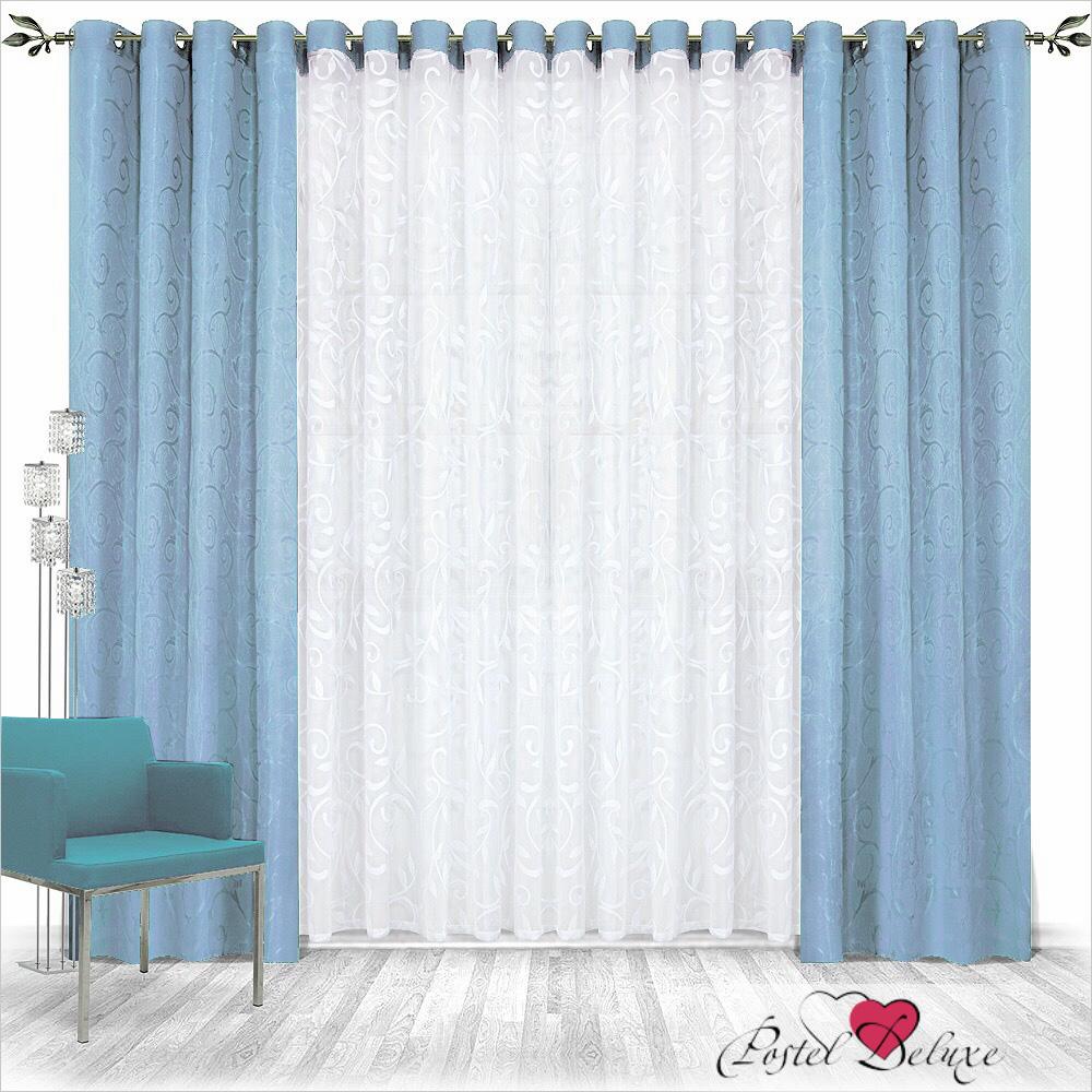 Шторы Nivasan Классические шторы Рига Цвет: Голубой шторы tac классические шторы winx цвет персиковый 200x265 см