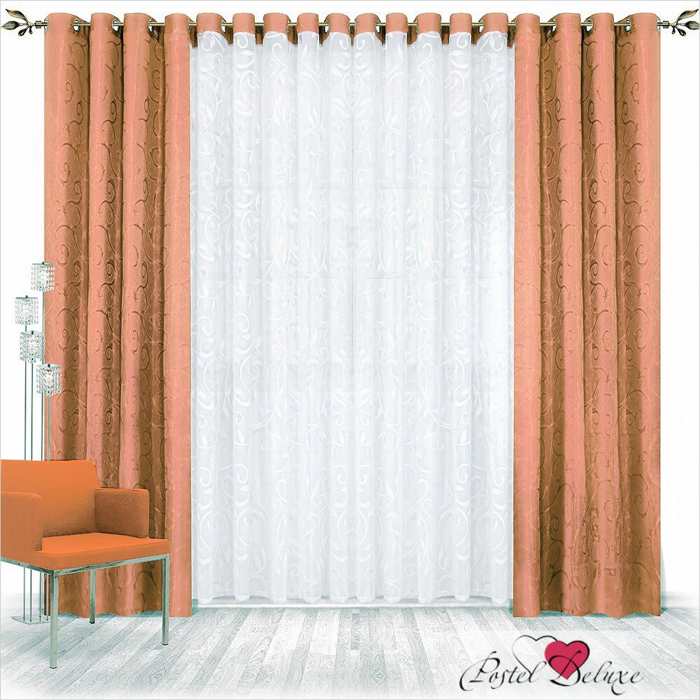 Шторы Nivasan Классические шторы Рига Цвет: Коричневый шторы tac классические шторы winx цвет персиковый 200x265 см
