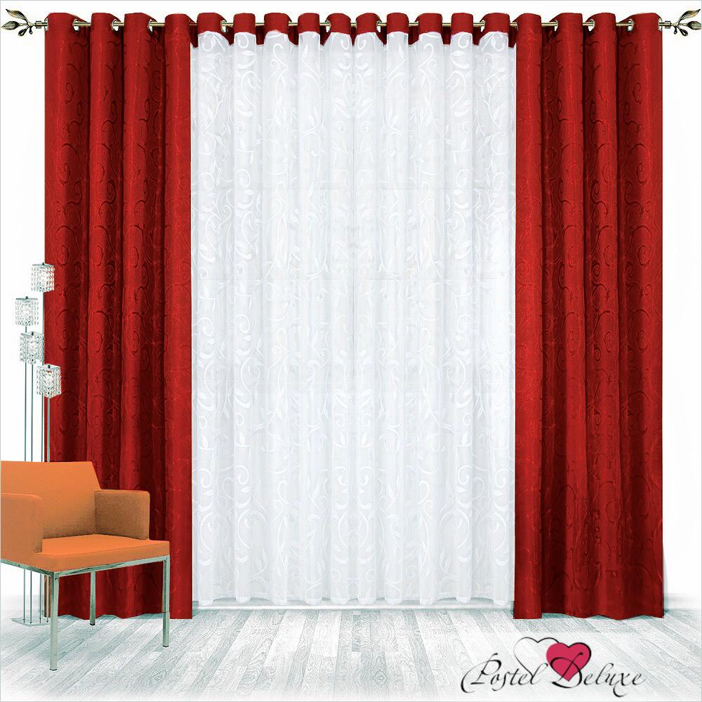 Шторы Nivasan Классические шторы Рига Цвет: Бордовый шторы tac классические шторы winx цвет персиковый 200x265 см