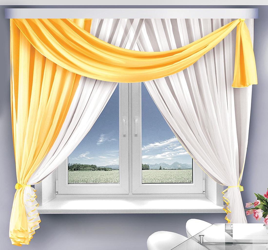 Шторы Велес Скрещенные шторы Венеция Цвет: Желтый велес велес шторы с ламбрекеном скарлет