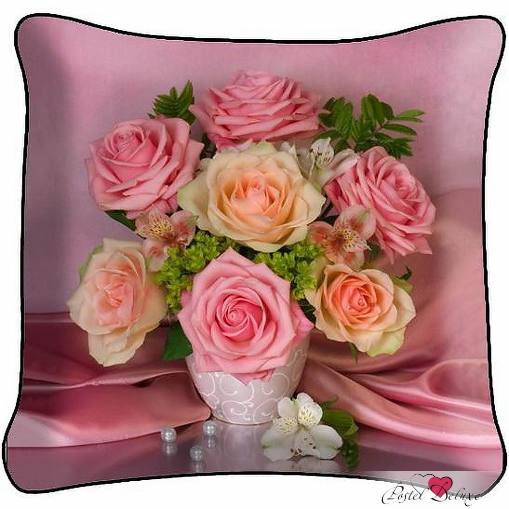 Декоративные подушки Fototende Декоративная подушка Букет Роз(45х45) подушка декоративная сирень букет француских роз 40 х 40 см