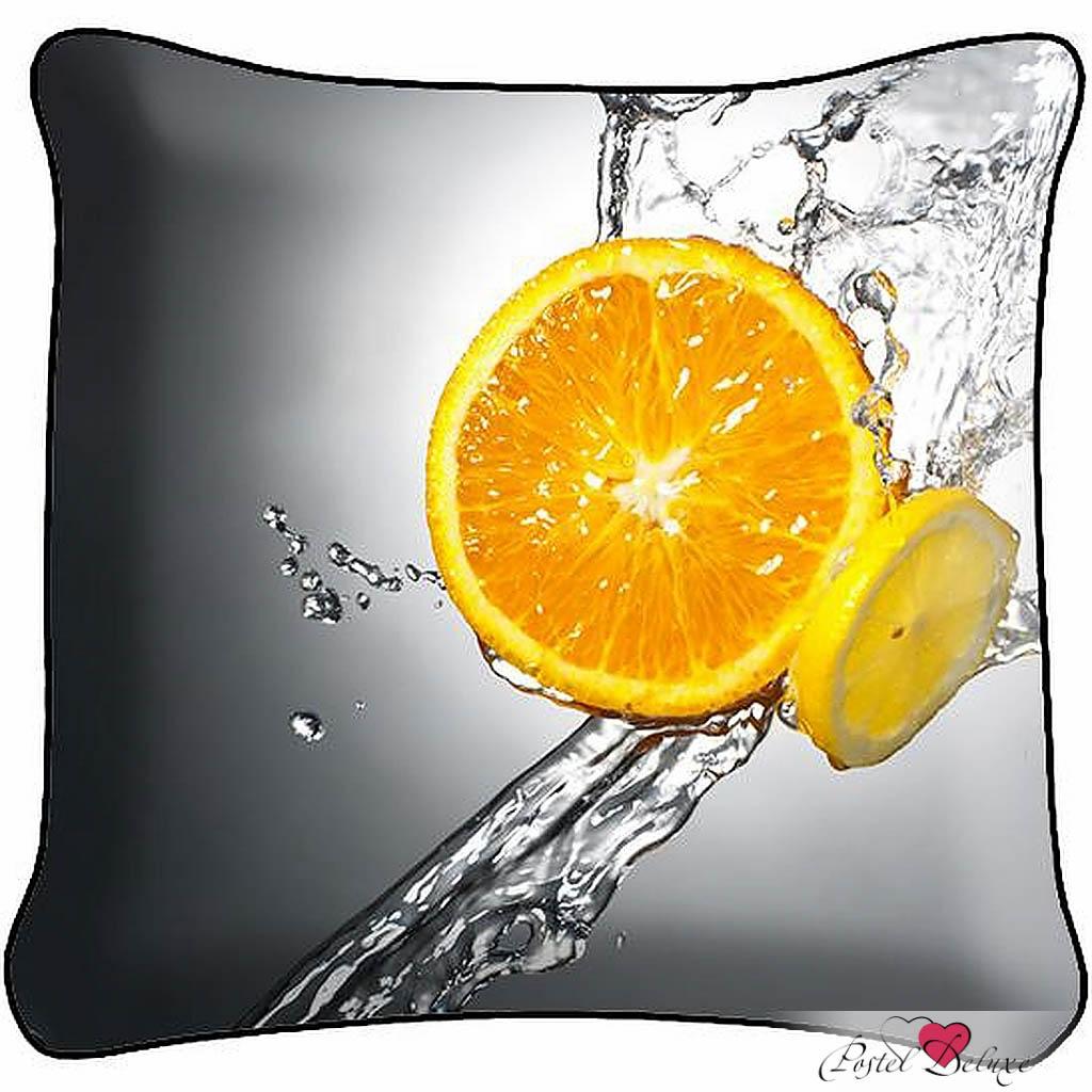 Декоративные подушки Fototende Декоративная подушка Апельсин с лимоном (45х45) декоративные подушки fototende декоративная подушка дама с собачкой 45х45