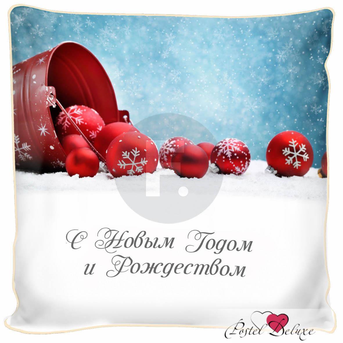 Декоративные подушки Fototende Декоративная подушка С Новым Годом И Рождеством (45х45) чай шар подарочный с новым годом и рождеством 60гр купаж черн и зел цейло