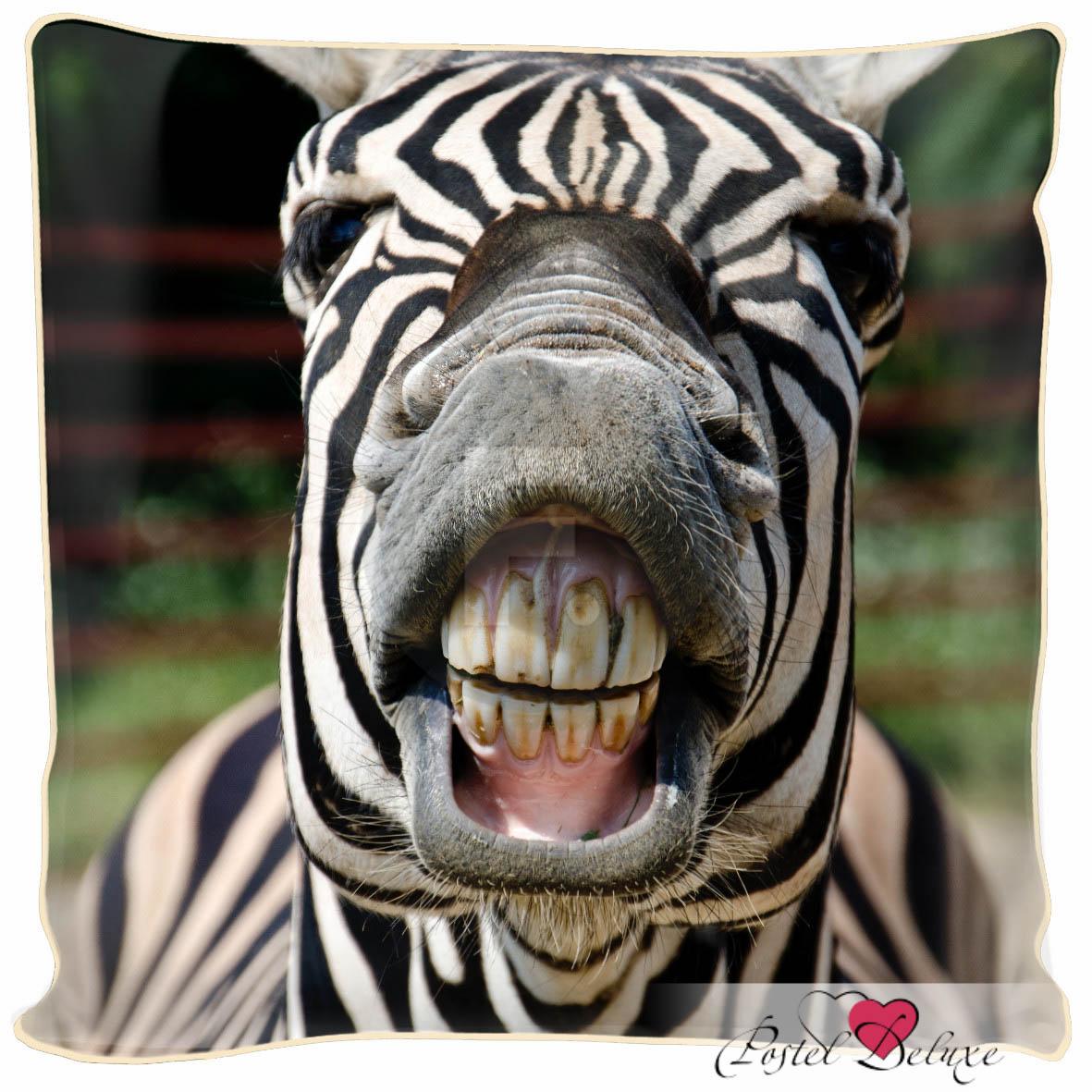 Декоративные подушки Fototende Декоративная подушка Улыбчивая Зебра (45х45) подушки декоративные maxitoys декоративная подушка зебра