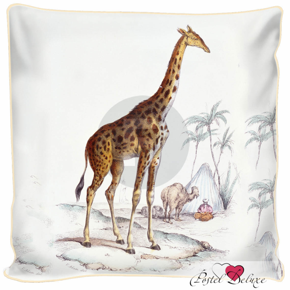 Декоративные подушки Fototende Декоративная подушка Жираф (45х45) подушки декоративные maxitoys подушка подголовник жираф