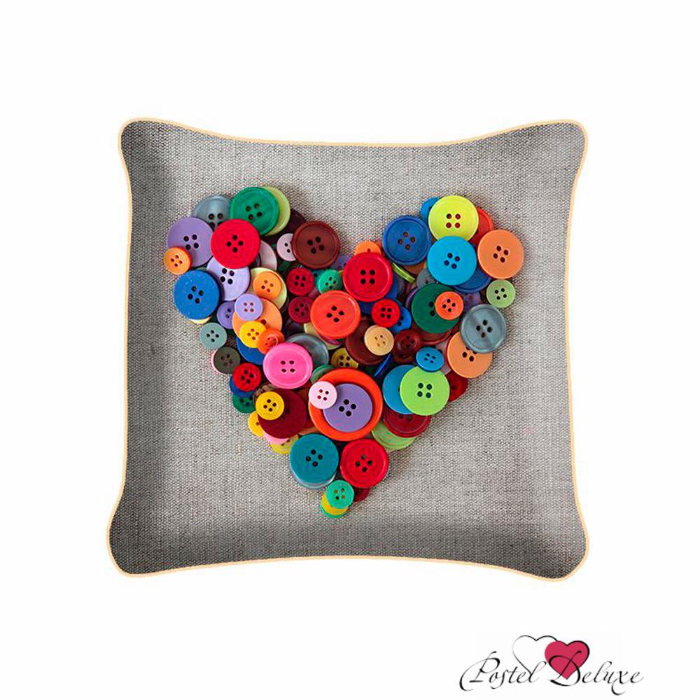 Декоративные подушки Fototende Декоративная подушка Сердце Из Пуговиц (45х45) подушки декоративные maxitoys декоративная подушка сердце с ручками