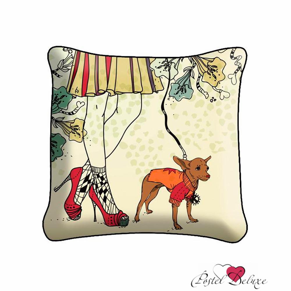 Декоративные подушки Fototende Декоративная подушка Дама С Собачкой (45х45) декоративные подушки fototende декоративная подушка дама