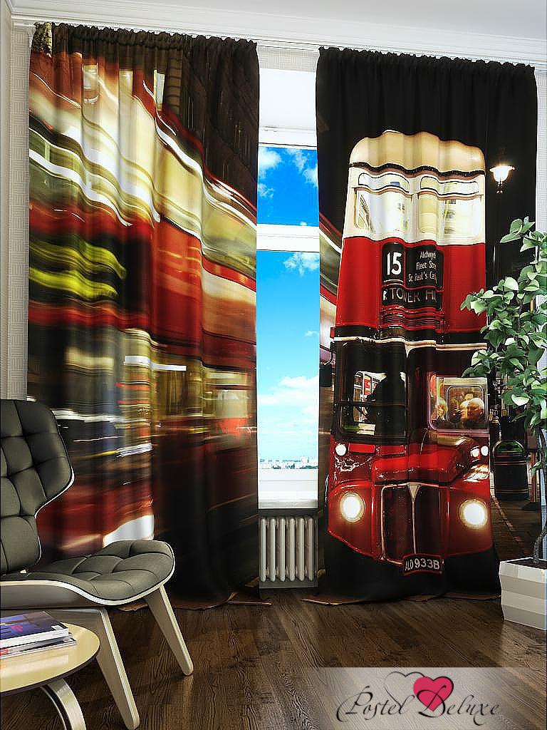 Шторы Fototende Фотошторы Красный автобус билет на автобус пенза белинский