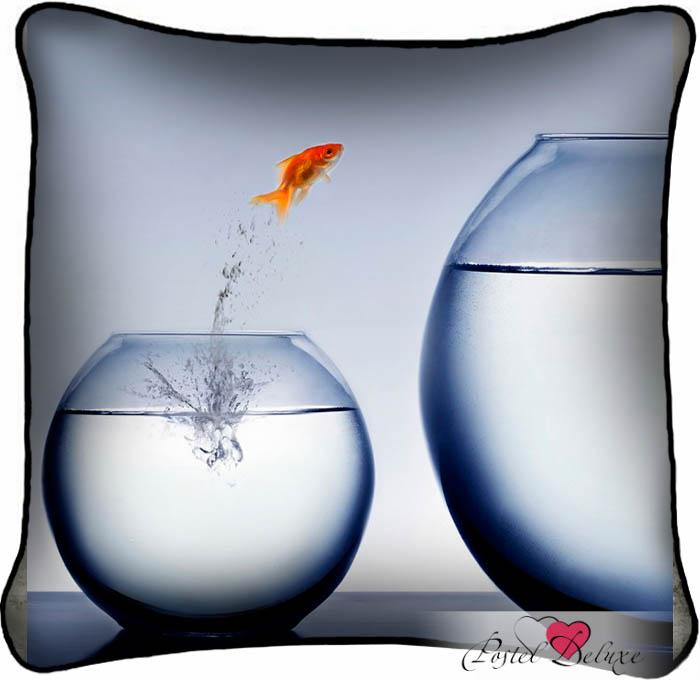 Декоративные подушки Fototende Декоративная подушка Золотая Рыбка (45х45) декоративные подушки оранжевый кот подушка игрушка рыбка