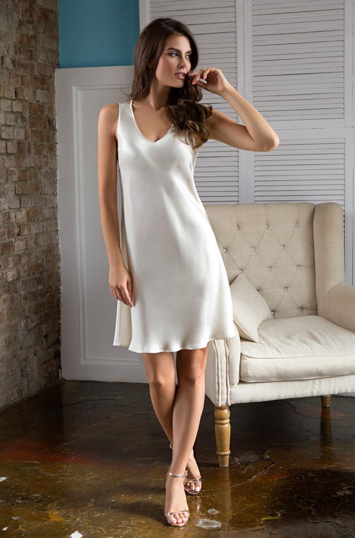 Ночные сорочки Mia-Mia Ночная сорочка Kristy Цвет: Шампань (S) ночная сорочка quelle s oliver 587229