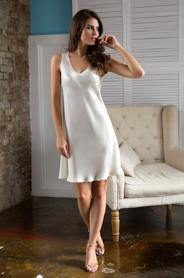 Ночные сорочки Mia-Mia Ночная сорочка Kristy Цвет: Шампань (M) ночная сорочка 2 штуки quelle arizona 464118