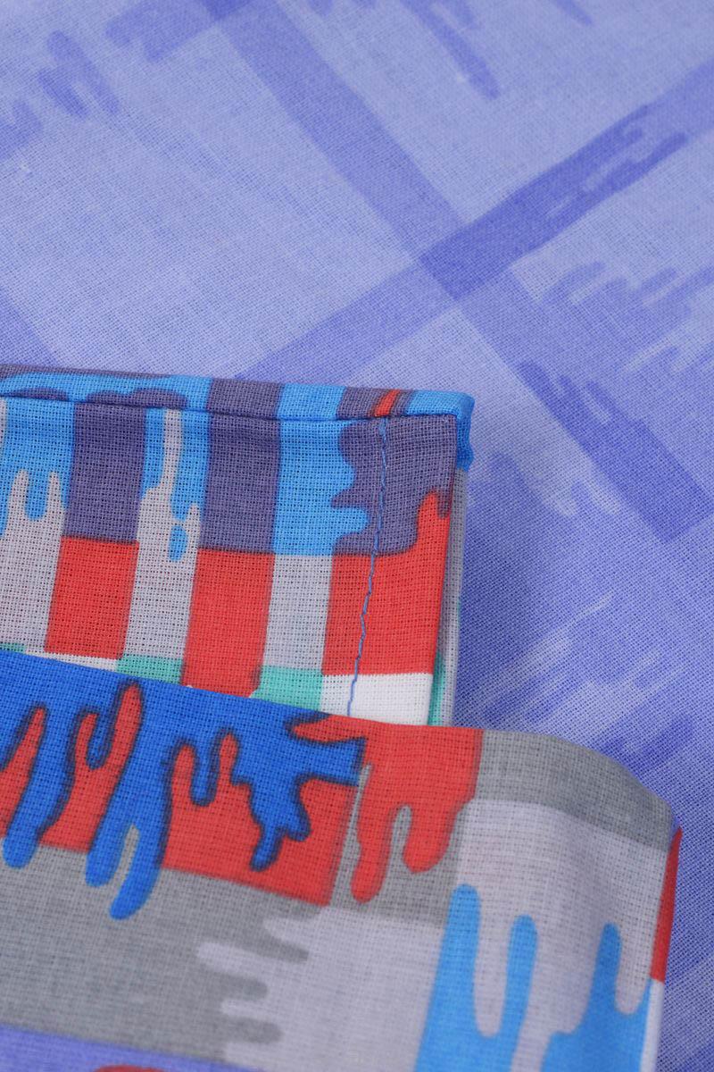 где купить Детское Постельное белье Хлопковый Край Постельное белье Geometry Цвет: Голубой (140х205 см) по лучшей цене