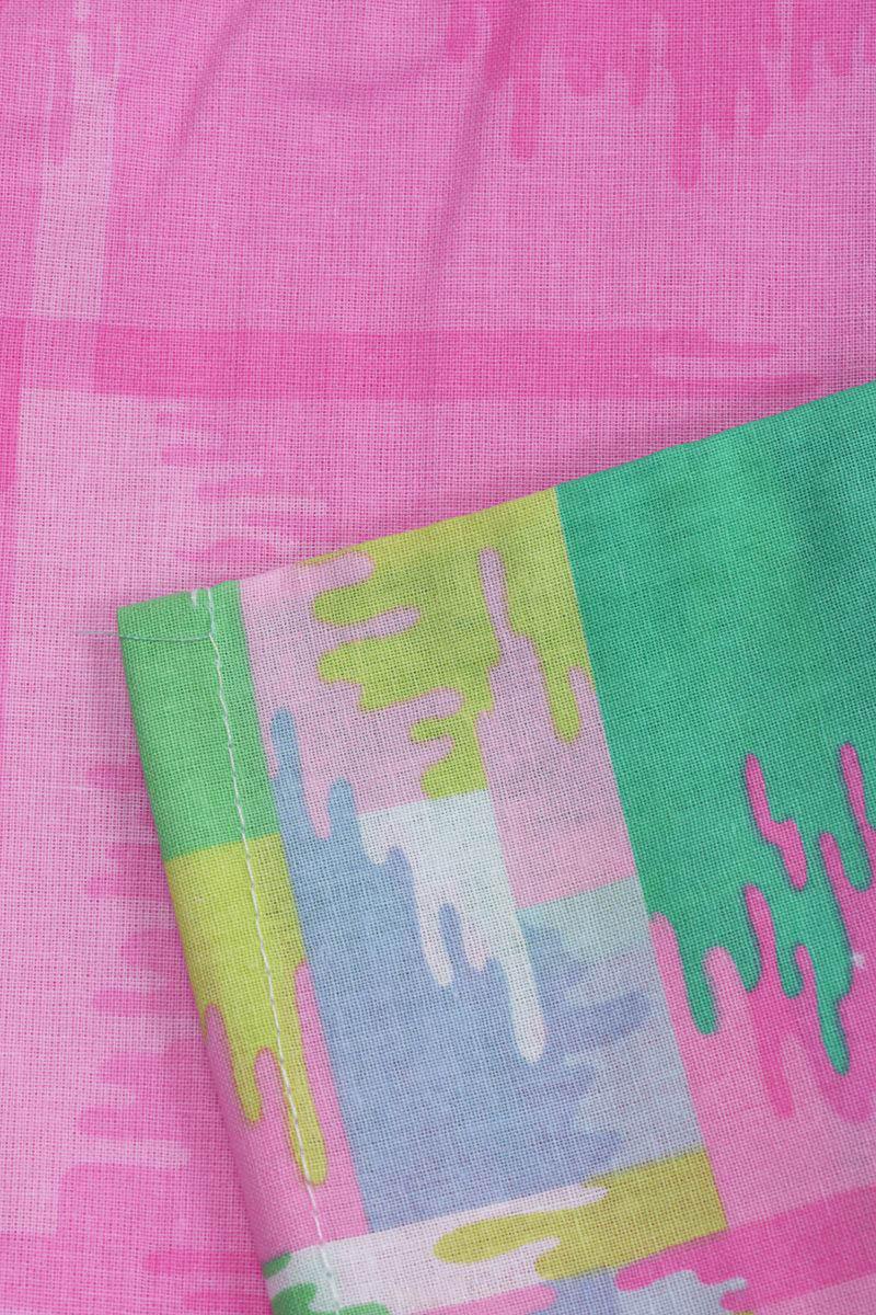 где купить Детское Постельное белье Хлопковый Край Постельное белье Geometry Цвет: Розовый (140х205 см) по лучшей цене