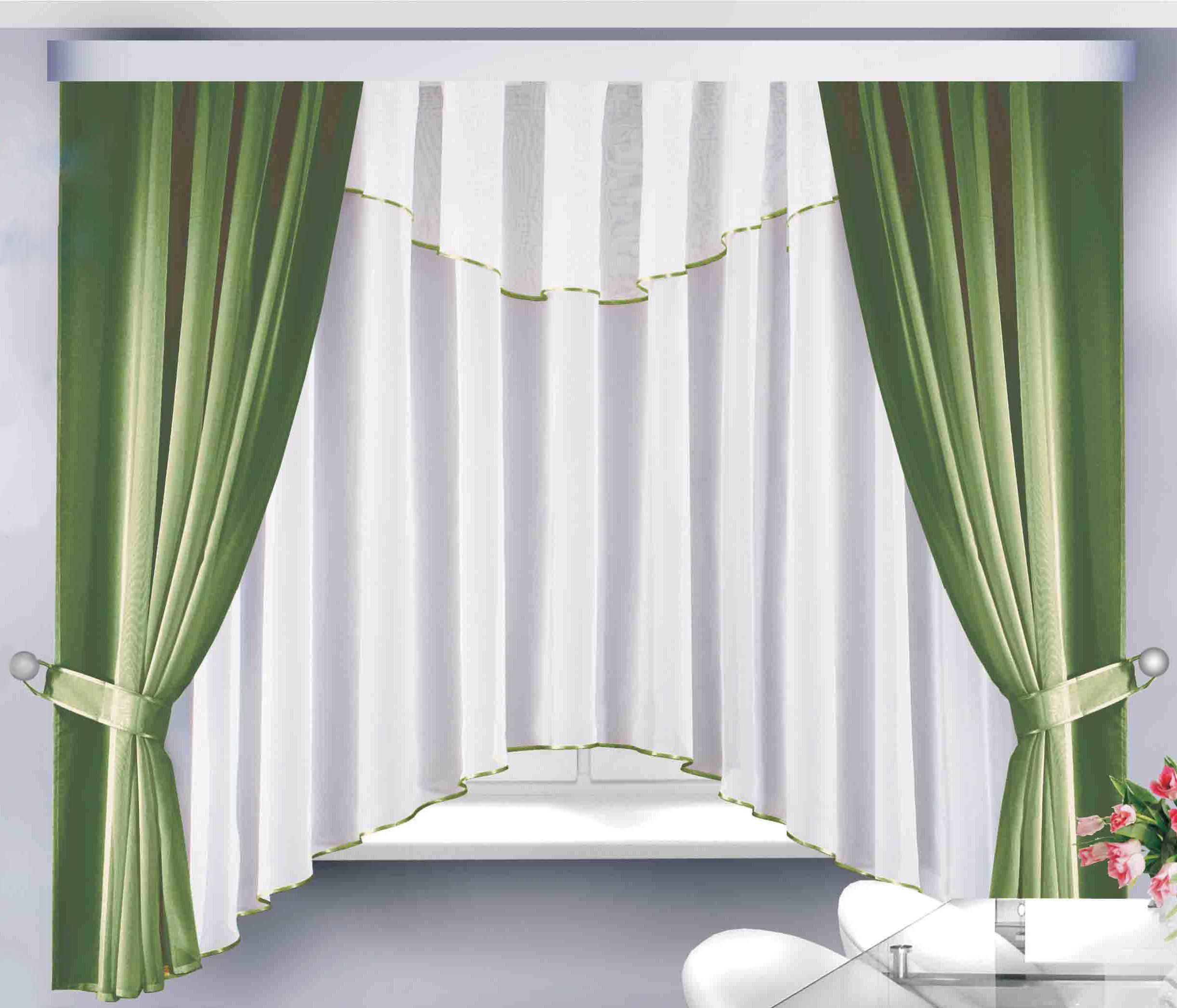 Шторы Велес Классические шторы Герда Цвет: Зеленый шторы tac классические шторы winx цвет персиковый 200x265 см