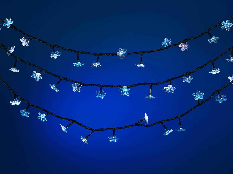 {}  Светодиодная гирлянда Снежинка (870 см) новогодняя гирлянда lunten ranta цвет фуксия длина 2 м 65517