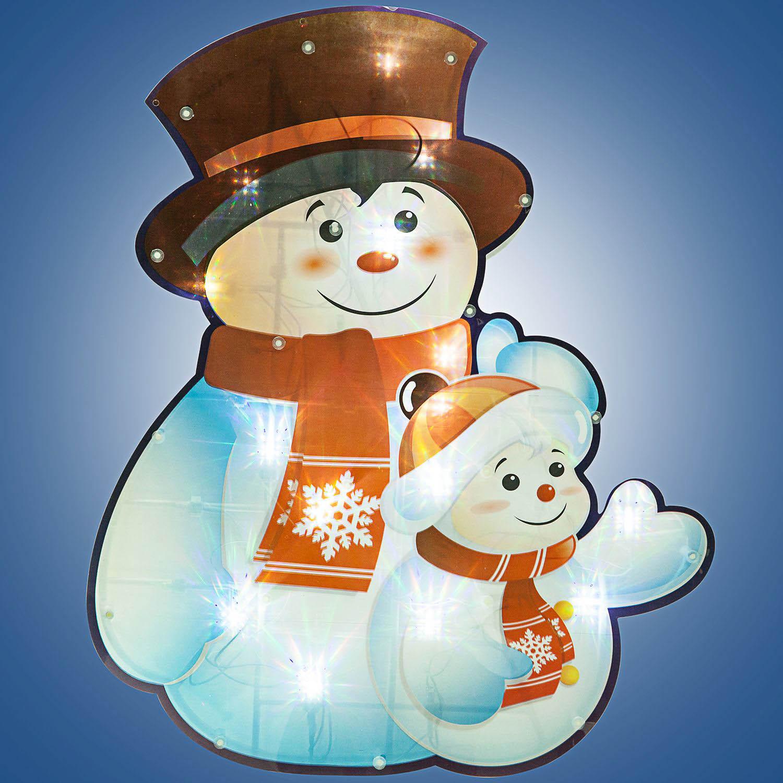 {}  Световая фигура Снеговички (37х45 см) световая фигура снеговички 37х45 см