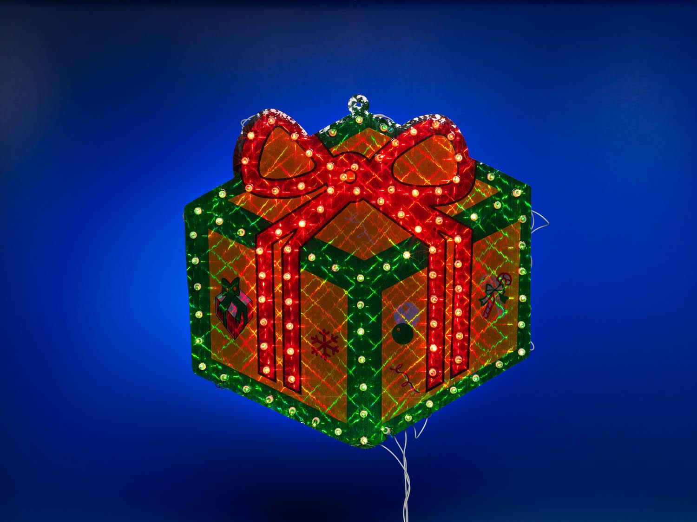 {}  Световая фигура Подарок (46 см) световая фигура снеговички 37х45 см