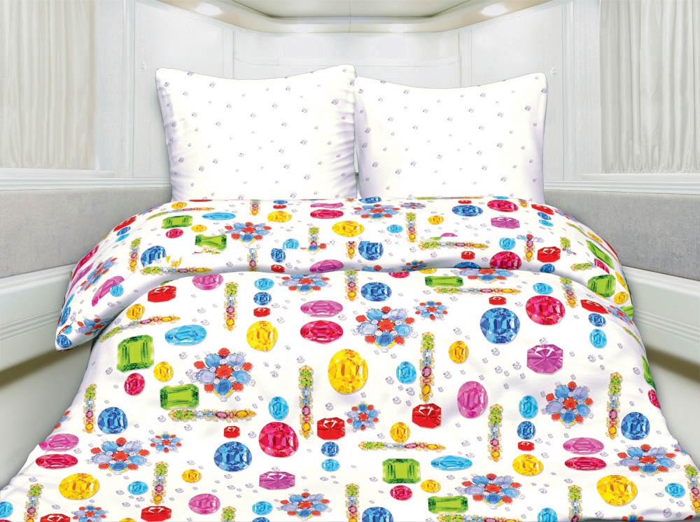 Постельное белье Унисон Постельное белье Самоцветы (2 сп. евро) авторский комплект самоцветы сентябрина