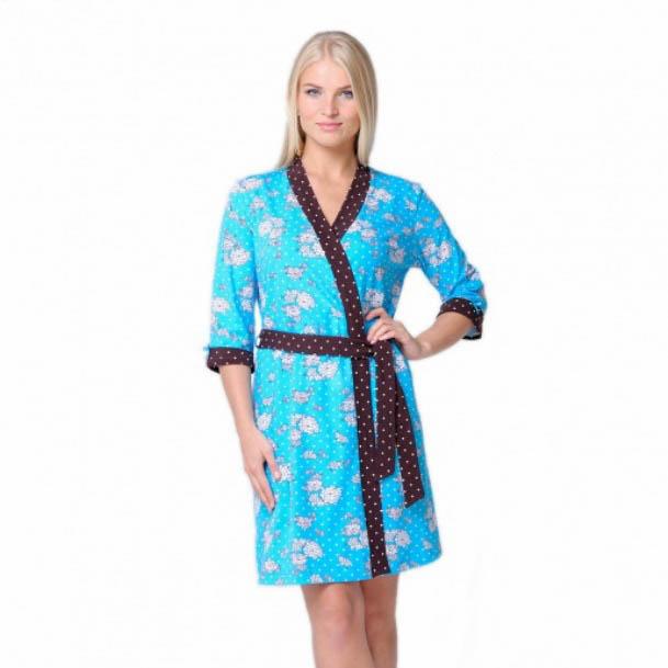 где купить Домашние халаты Santi Домашний халат Бирюза (M) по лучшей цене