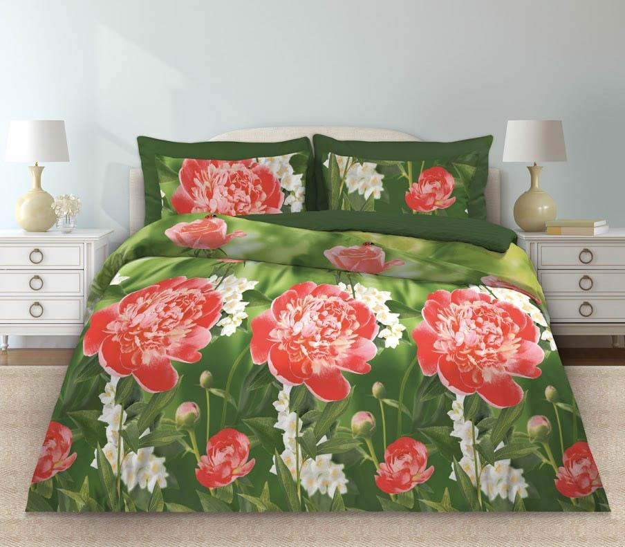Постельное белье Любимый дом Постельное белье Пионы (2 спал.) цена